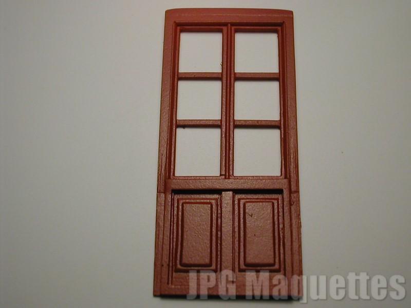Porte fen tre bois 6 carreaux ref a01445 for Fenetre 6 carreaux